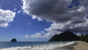 Le Diamant beach, Martinique Stock Photos