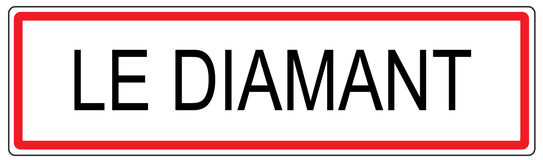 Le Diamant city traffic sign illustration in France Stock Photos