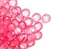 Le diamant en cristal rose Photos stock