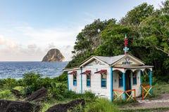 Free Le Diamant, Martinique - Maison Du Bagnard And Diamond Rock Stock Images - 170187294