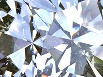 Le diamant ou le cristal triangulaire posé de texture forme le fond modèle du rendu 3d Photographie stock libre de droits