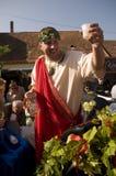 Le dieu de mythologie du Bacchus de vin Photographie stock