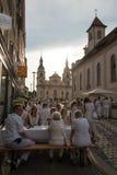 Le Diner En Blanc - the white dinner Royalty Free Stock Photos