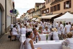 Le Diner En Blanc - the white dinner Stock Photography