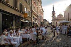 Le Diner En Blanc - the white dinner Royalty Free Stock Image