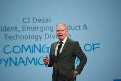 Le Directeur de Marketing Jonathan Martin d'EMC fait la parole au monde 2014 d'EMC Image libre de droits