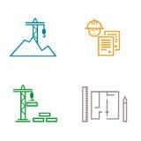 Le direzioni principali nella costruzione e nella pianificazione Royalty Illustrazione gratis