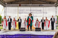 Le discours du tsar Peter Premier à l'ouverture du festival Photographie stock libre de droits