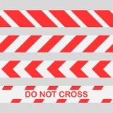Le dispositif avertisseur rouge réglé ne croisent pas la ligne bande de précaution Ensemble sans couture de dispositif avertisseu illustration stock