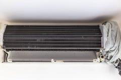 Le dispositif climatique de climatiseur ou prend du masque Il I images stock