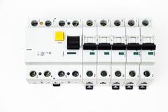 Le dispositif et le disjoncteur résiduel-actuels photo stock