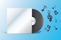 Le disque avec la couverture vide Image stock