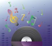 Le disque et le bruit Image stock