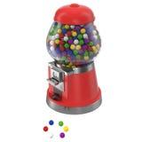 Le distributeur automatique de Gumball a rempli de gumballs colorés d'isolement sur le blanc illustration 3D Image libre de droits