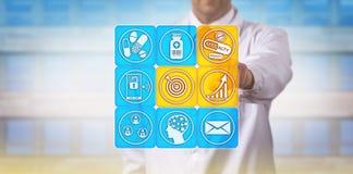 Le distributeur de Pharma vise le marché de drogue de spécialité photo stock