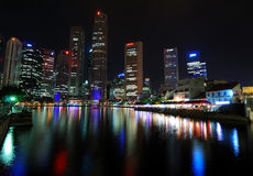 Le district des affaires de Singapour Photos stock