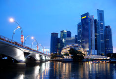 Le district des affaires, Singapour Photographie stock libre de droits