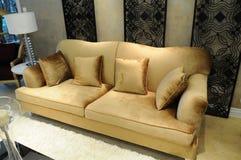 Le divan de flannelette dans le salon Image libre de droits