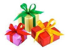Le divers cadeau a enveloppé des présents Images stock