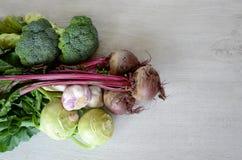 Le divers espace de copie de légumes Image libre de droits