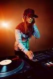 Le DJ à la mode Photo stock