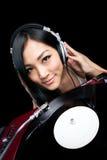 Le DJ écoutant la musique Image libre de droits