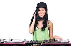 Le DJ écoutent cet enregistrement Image libre de droits