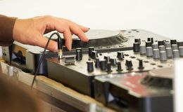 Le DJ photos stock
