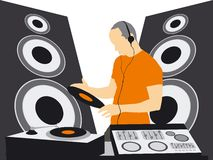 LE DJ Illustration Stock