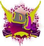 Le DJ abstrait éclaboussent. Fond de musique. Photos libres de droits