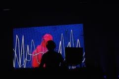 Le DJ au concert Photo libre de droits