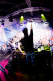 Le DJ au concert images libres de droits