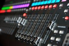 Le DJ bloc de commande Images stock