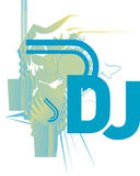 Le DJ CD COUVRENT ou aviateur Photographie stock