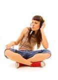 Le DJ dans des écouteurs Image libre de droits