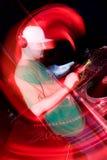 Le DJ dans la boîte de nuit Images libres de droits