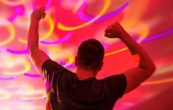 Le DJ dans la boîte de nuit Photos libres de droits