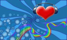 Le DJ de Valentine Photographie stock libre de droits