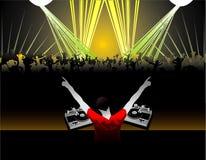 Le DJ dirigent la composition illustration libre de droits