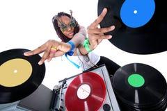 le DJ frais afro-américain images libres de droits