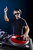 Le DJ jouant la musique Images libres de droits