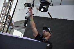 Le DJ Michael Woods Images libres de droits