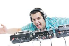 Le DJ party Photographie stock