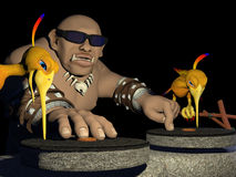 Le DJ préhistorique Images libres de droits