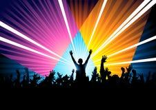 Le DJ répondant à la foule Images libres de droits