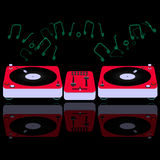 Le DJ rouge consolent Photo stock