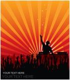Le DJ sur la réception Images libres de droits