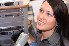le DJ transmettent par radio Photographie stock