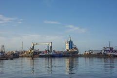Le dock de ferry à Port-d'Espagne Trinidad Images libres de droits