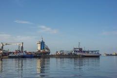 Le dock de ferry à Port-d'Espagne Trinidad un début de la matinée Images stock